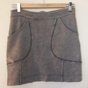 Diesel sweat type mini skirt